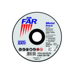 DISCO DA TAGLIO 'SAIT BF-DS' - MM. 115 X 6 X 22 INOX