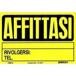 CARTELLO 'AFFITTASI' - CM. 20 X30