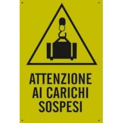 CARTELLO 'ATTENZIONE AI CARICHISOSPESI' - CM. 20 X 30