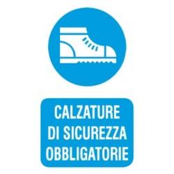 CARTELLO 'CALZATURE DI SICUREZZA OBBLIGATORIE' - CM. 20 X 30