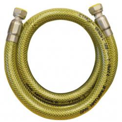 TUBO FLESSIBILE GIALLO PER GAS CM. 150 GR. 1/2