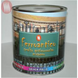 SMALTO FERROANTICO (GRANA GROSSA) VERDE SMERALDO LT. 0,750