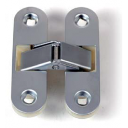 CERNIERA INVISIBILE PER PORTE MM. 89 X 25 - CROMO SATINATO