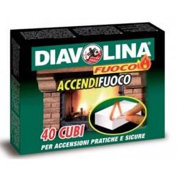 DIAVOLINA ACCENDIFUOCO A CUBETTI PZ. 40