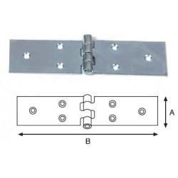Cod. 48756 Cerniera lunga perno fisso in acciao zincato mm. 100