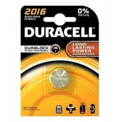 BATTERIA 'DURACELL' A BOTTONE CR 2016 - 3 V *