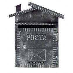 CASSETTA POSTA FERRO BATTUTO CON COMIGNOLO CM. 28 X 9 X 35 H