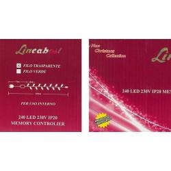 LUCI DA 240 LED 'LINEABEST' - BIANCO *