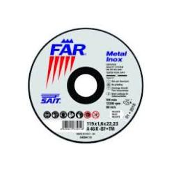 DISCO DA TAGLIO 'SAIT FR-DT' - MM. 115 X 3 X 22 INOX